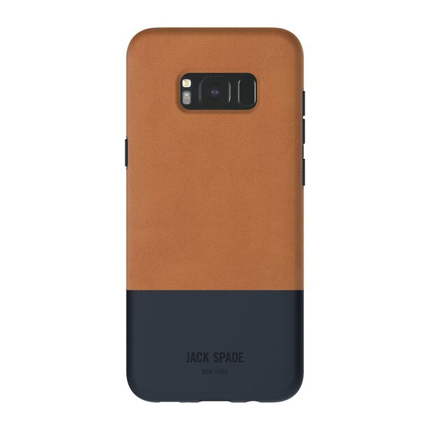 JACK SPADE Color-Block Case for Samsung S8 Plus- Tan/Navy