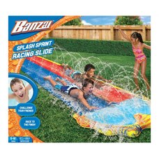Banzai Splash Sprint Racing Dual-Lane Slide and Pool