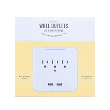 3-OUTLET CHARGING STATION WITH 2 USB PORTS