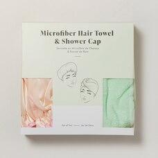 MICROFIBER HAIR TOWEL & SHOWER CAP