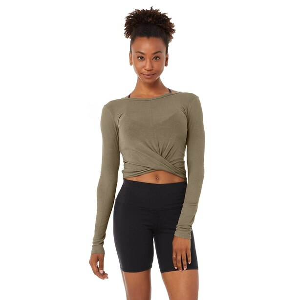 Cover Long Sleeve Top Olive Branch Large