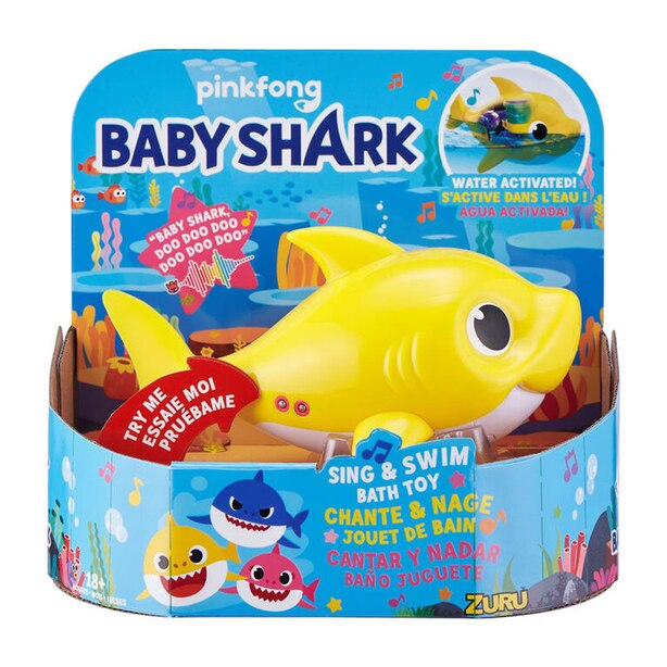 Baby Shark: Sing and Swim Bath Toy - Yellow