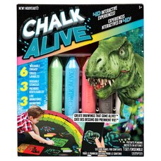 Chalk Alive™ Dino, fusée, voiture de course