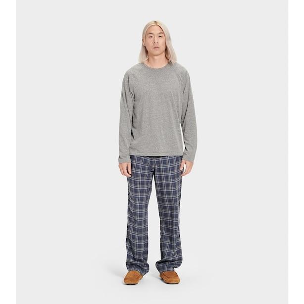 Steiner Pajama Set Plaid , Blue/Grey Heather X-Large