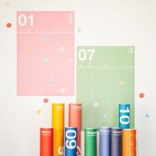Poketo Planificateur Mural Spectrum