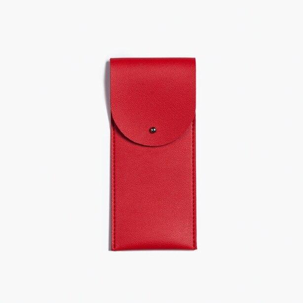 Minimalist Pen Pouch Red