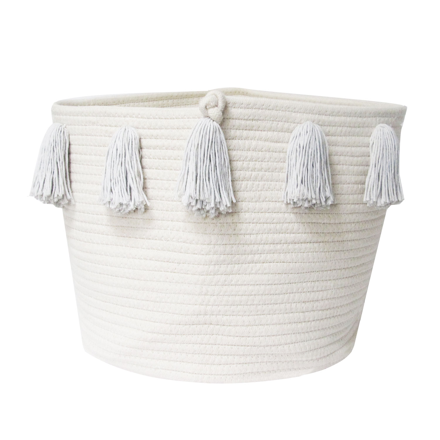 Basket large handles without TASSELS to customize