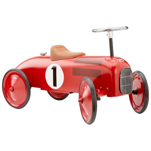 VINTAGE RIDE-ON METAL CAR RED
