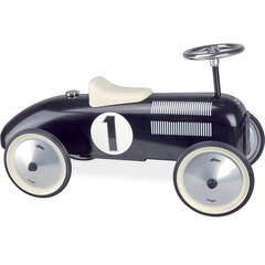 VINTAGE RIDE-ON METAL CAR, BLACK