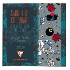 Carnet de coloriage pour adultes Tatoos