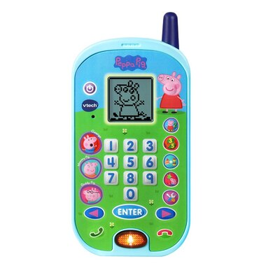 VTech® Peppa Pig Let's Chat Learning Phone™ with Educational Games, Voice Messages, Ringtones English