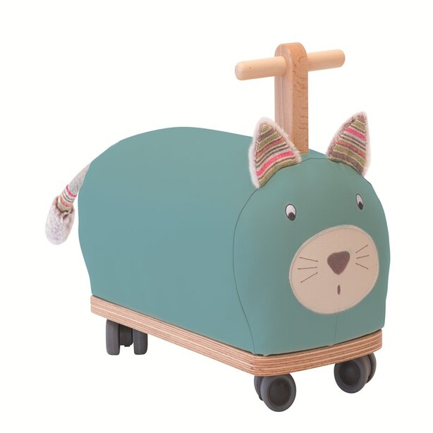Moulin Roty Pachats Ride-On Toy Wood and Foam Cat