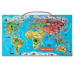 Magnetic World Puzzle English