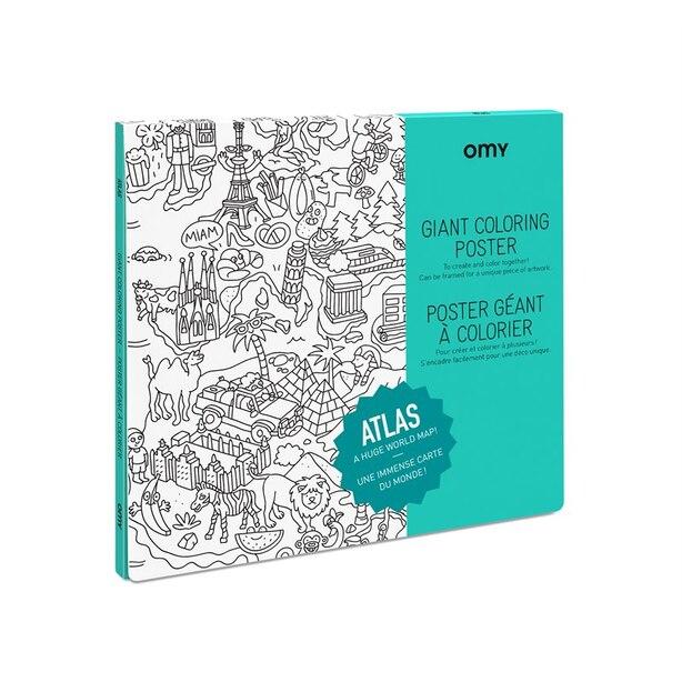 OMY Giant Colouring Poster Atlas