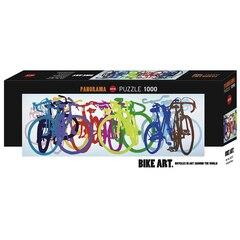 Casse-tête rang de vélos de 1 000 pièces