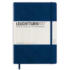 Leuchtturm1917 Medium (A5) Dotted Notebook - Navy