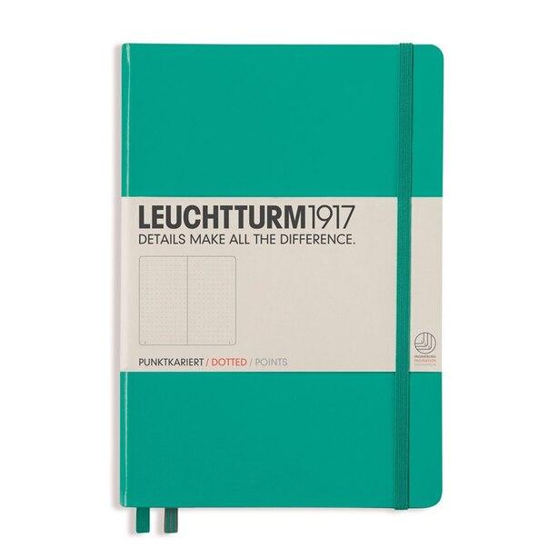 Leuchtturm1917 Bullet Journal Hardcover Notebook (A5), Emerald