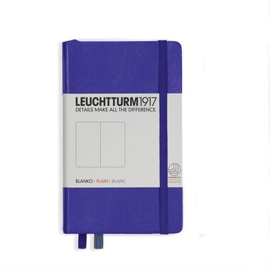 Notebook Pocket (A6), Hardcover, 185 numbered pages, purple