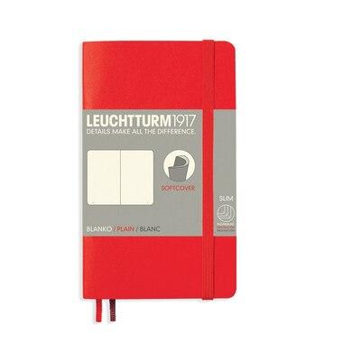 Leuchtturm1917 Soft Cover Pocket A6 Plain Notebook - Red