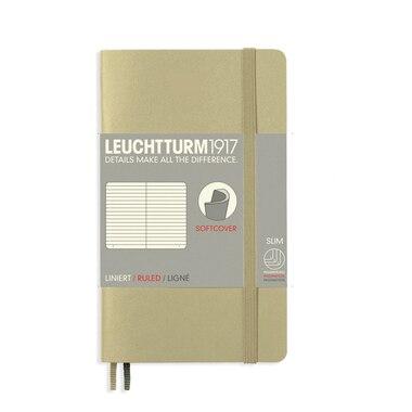 Leuchtturm1917 Soft Cover Pocket A6 Ruled Notebook - Sand