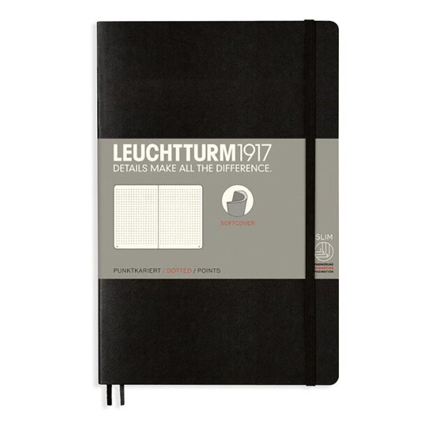 Leuchtturm1917 Composition Notebook (B6+) Softcover Dotted Black