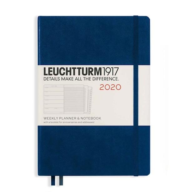 Leuchtturm1917 2020 Weekly Planner & Notebook Medium (A5) Navy