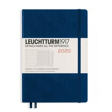 Leuchtturm1917 2020 Weekly Planner & Notebook Medium (A5) Navy