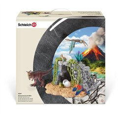 Schleich Dinosaur set with cave Playset