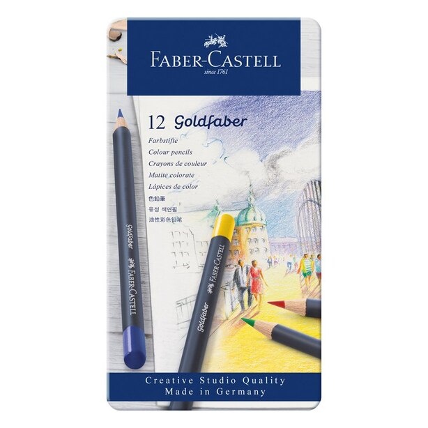 Faber Castell Goldfaber colour pencils set of 12
