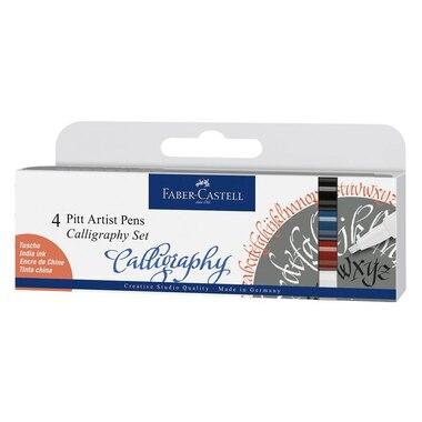 Faber Castell Pitt Artist Calligraphy Essential Pen Set of 4