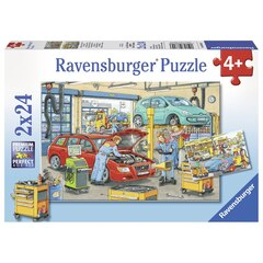 Repair Shop and Gas Station (2 x 24 pc puzzles)