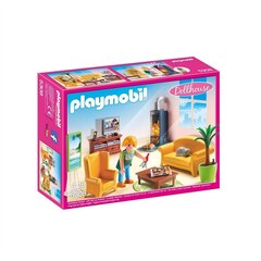 Playmobil Dollhouse - Living Room with Fireplace