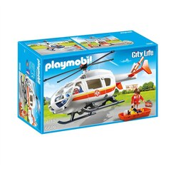 Playmobil - City Life - The Friendly Children's Hospital - Emergency Medical Helicopter