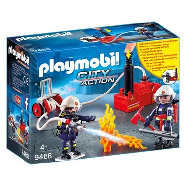 Playmobil® Firefighters with Water Pump