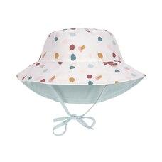 Lassig Splash & Fun Sun Protection Bucket Hat - Spotted White Baby 9-12 Months
