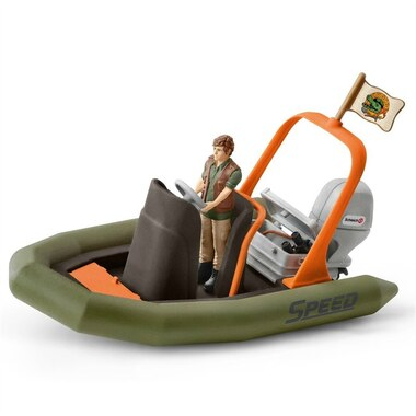 Hand-Painted Playset Dinghy with Ranger