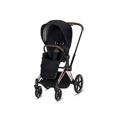 Priam Rose Gold 3 in 1 Stroller with premium Black Seat Pack