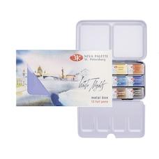 Neva Pallette White Nights Watercolour 12 pans Tin Box