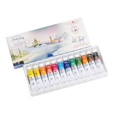 Les Aquarelles extra fine `White Nights`ensemble de 12 tubes de couleurs aquarelles de artistes