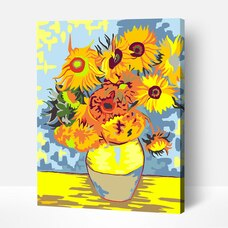 Paint by Numbers Acrylic Painting Kit - Sunflowers