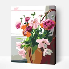 Paint by Numbers Acrylic Painting Kit - Flowers 2.43