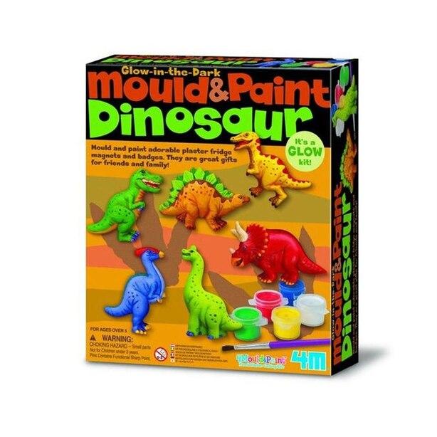 Ensemble de création de dinosaures brillant dans le noir