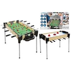 "32"" (82cm) 2-in-1 Reversible Football (Foosball/Soccer) & Hover Puck Air Hockey Table"
