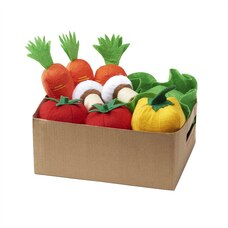 Antsy Pants™ Felt Play Food 11 Veggies with Reusable Bin Bell Peppers, Carrots, Lettuce, Mushrooms…