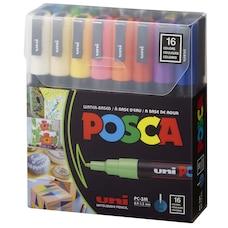 Ensemble de marqueurs colorés de peinture POSCA, PC-3M, 8couleurs, pointe fine