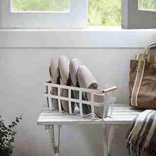 Yamazaki Tosca Slim Storage Basket White