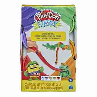 Play-Doh Elastix, Assortiment de 4pots de pâte aux couleurs vives