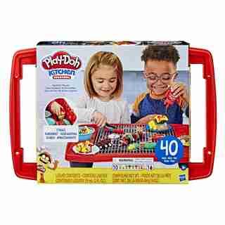 Play-Doh Kitchen Creations, Super barbecue, gril jouet avec 40 pièces, coulis Play-Doh atoxique et 10 couleurs