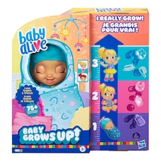Baby Alive, Baby Grows Up (Bonheur), Happy Hope ou Merry Meadow, poupée qui croît et parle…