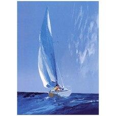Everyday Greeting Card Sailing Into Rain